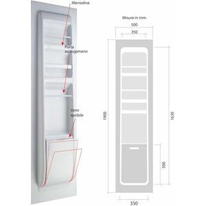 Prodotto 8881 parete controporta attrezzata per toilette no brand accessori per camper - Parete attrezzata bagno ...