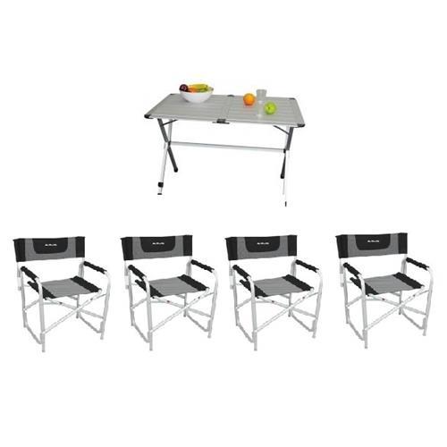 Tavolo Da Campeggio Con Sedie.Prodotto 20153 Kit Tavolo Pieghevole Gap Less 6 4 Sedie