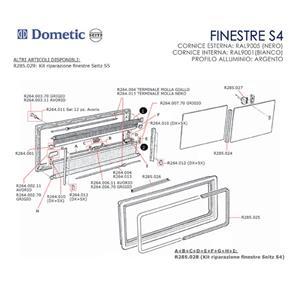Prodotto 8677 maniglia centrale grigio per oscurante finestre seitz vm101709 - Finestre per camper ...