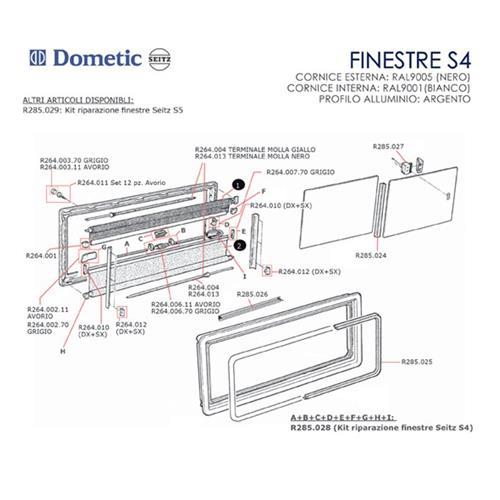 Prodotto 9698 tappo coprivite grigio per finestre seitz seitz accessori per - Finestre per camper ...