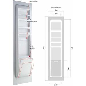 Prodotto 8881 parete controporta attrezzata per toilette no brand accessori per camper - Bagno per camper ...