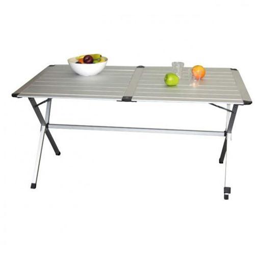 Tavolo Arrotolabile Campeggio E Outdoor.Prodotto 1201 Tavolo Alluminio Pieghevole Gap Less 6p 140 X 80
