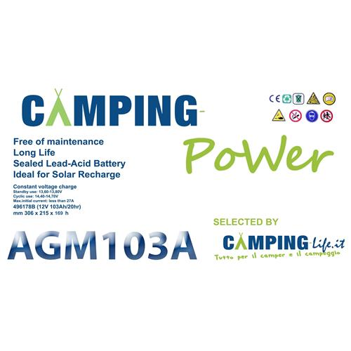 BATTERIA CAMPING-POWER AGM 103A 496178A