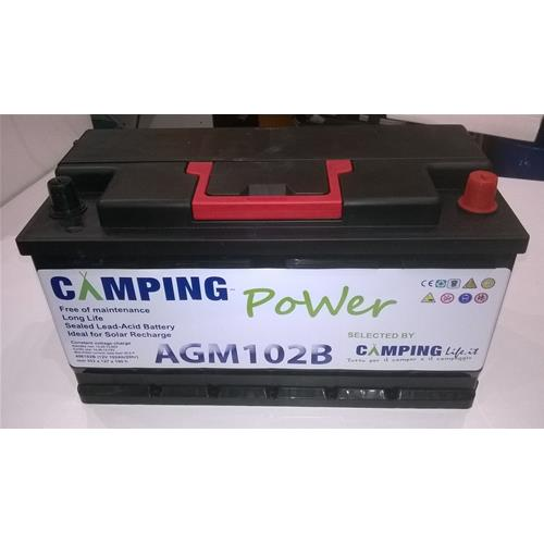 BATTERIA CAMPING-POWER AGM 102A 496192B BASSA